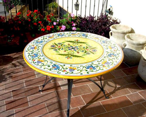 Deruta Ceramics Garden Table