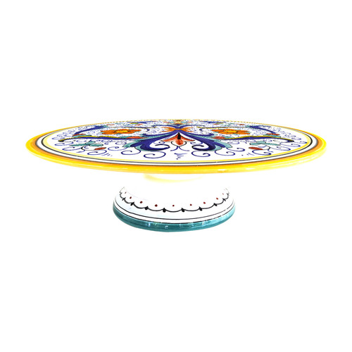 Ricco Deruta cake plate handpainted