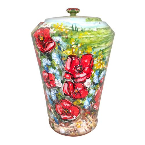 Ceramic vase deruta umbria collection