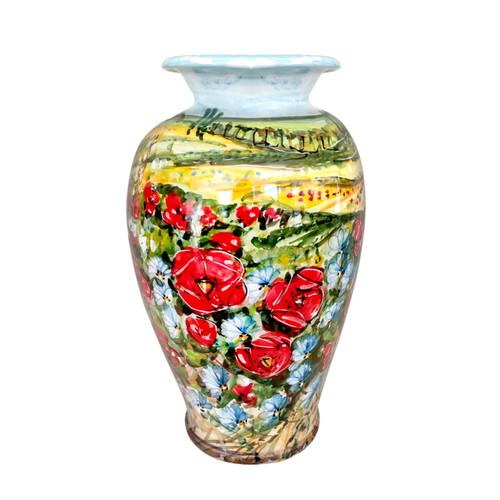 Ceramic vase OF deruta umbria collection