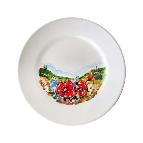 Italian pottery salad plate umbria