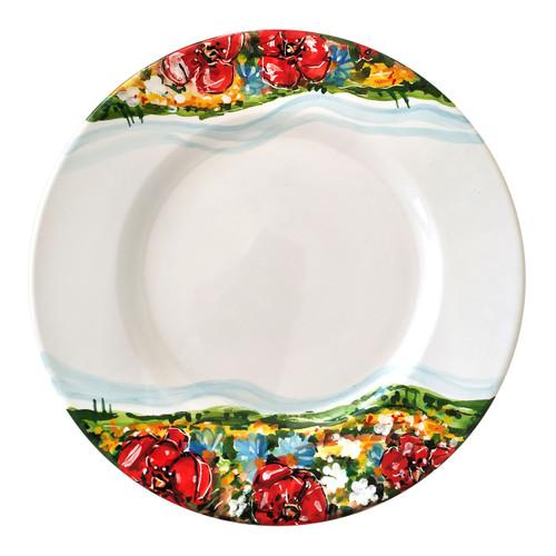 Deruta ceramic dinner plate with umbria decoration