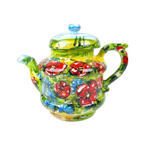 Italian ceramic handpainted teapot Umbria