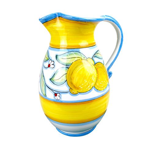 Height Pitcher yellow deruta italy mod