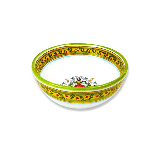 Elegant italian cereal bowl with sara design decoration by mod ceramics