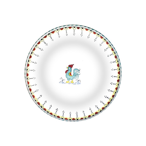 Italia pottery dinner plate for restaurant galletto decoration