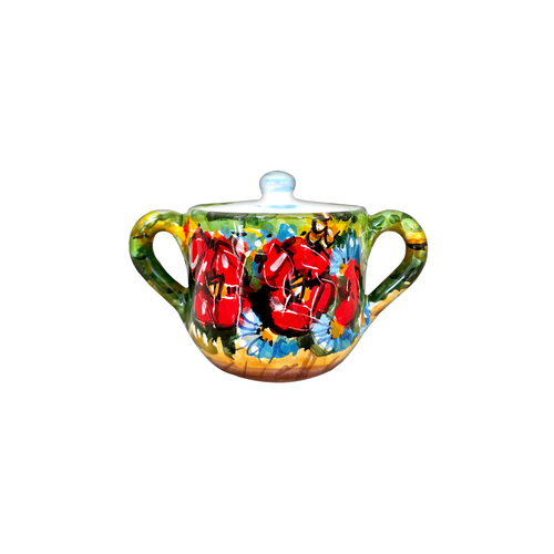Sugar bowl italian ceramic with Umbria