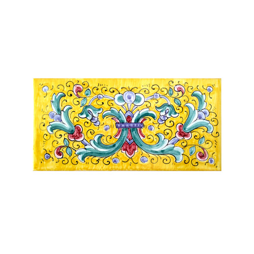 Italian ricco deruta yellow background