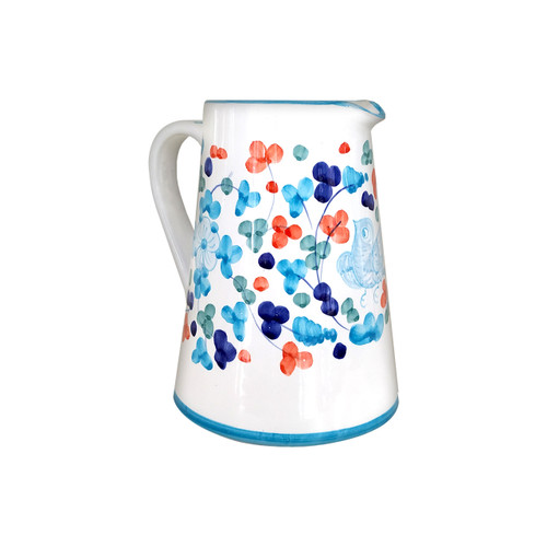 Arabesco restaurant pottery pitcher arabesco light blue