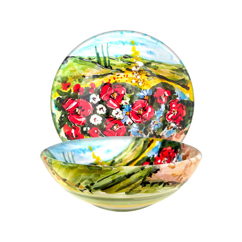 Deruta ceramic bowls with Umbria decoration