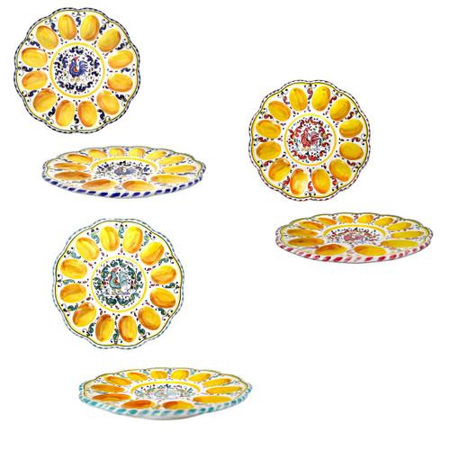 Italian pottery serving egg Orvieto Decoration