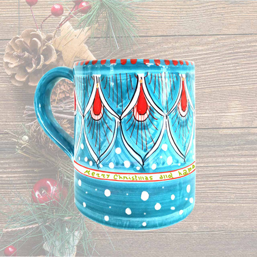 Deruta christmas mug gift customized