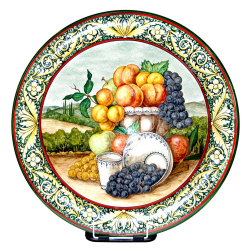 Decorative plate ceramic handpainted
