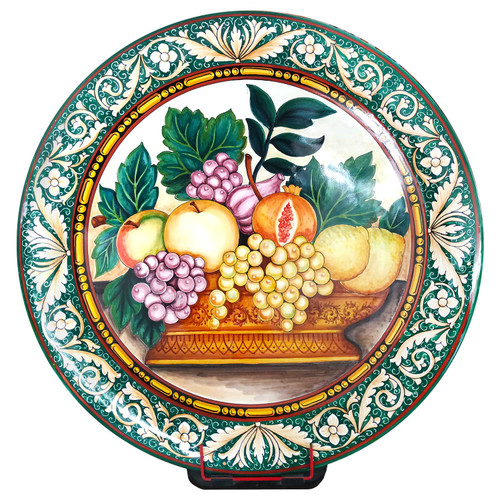 Artistic plate of ceramic hand painted made in Italy