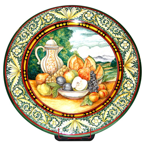 Italian pottery decorative plate Still Life
