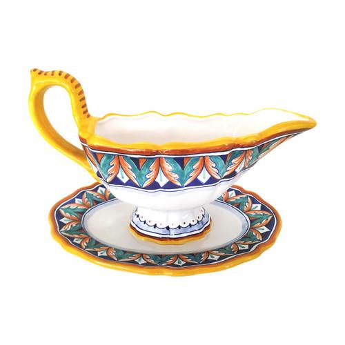 Italian ceramic saucer dente di lupo