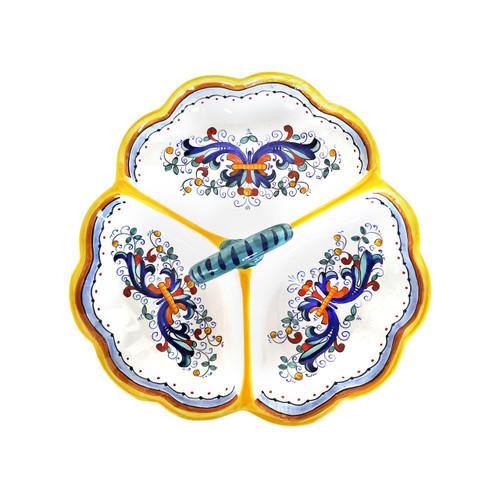 Three starter  appetizer of ceramics hand painted ricco deruta