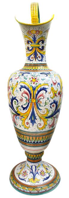 Anfora In ceramica di Deruta con decoro Ricco Deruta