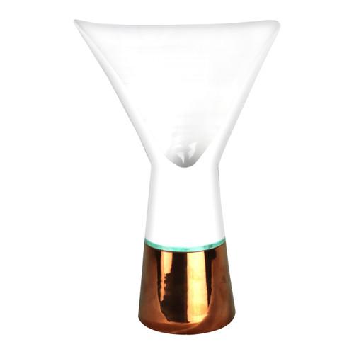 Italian pottery vase of design, bouquet