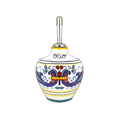 Ricco Deruta oil bottle pottery