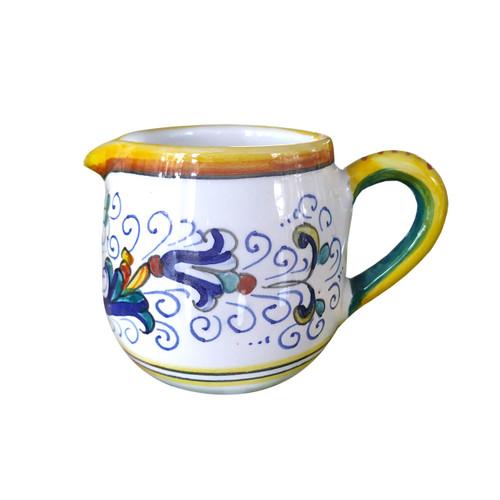 Italian pottery milk jug ricco deruta