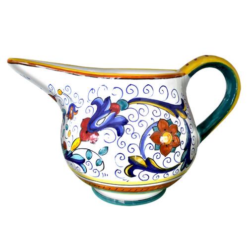 Hand painted italian pottery roman pitcher