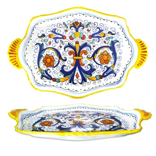 Italian pottery Tray Ricco Deruta