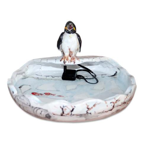 Handbemalte Springbrunnen Pinguin