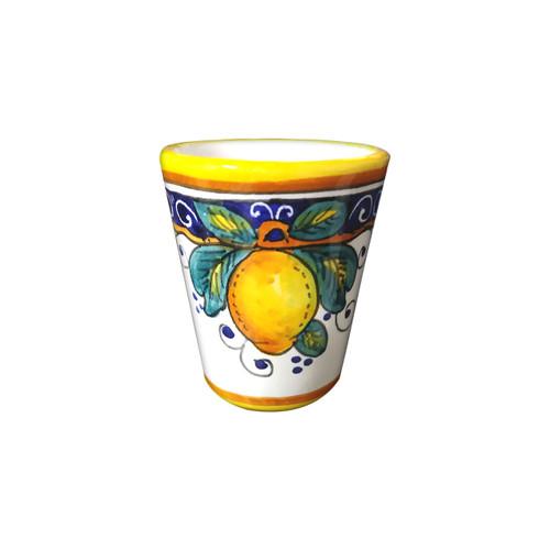 Italian pottery limoncello cup alcantara