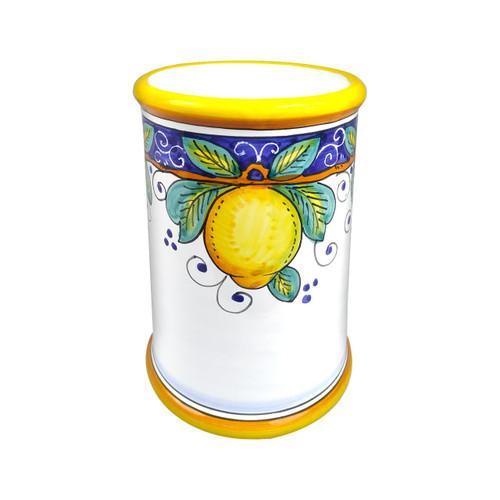 Italian ceramics utensil holder Alcantara