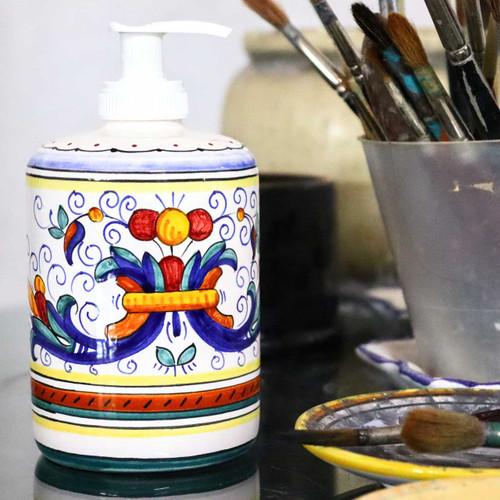 Soap Pump Ricco Deruta Mod Ceramics Handmade