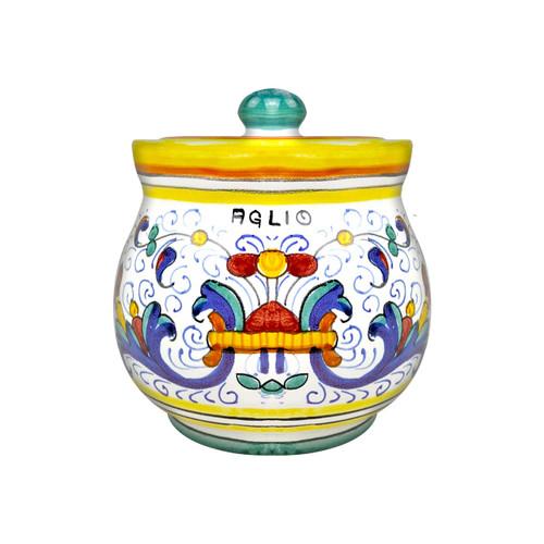 Italienisches Keramik-Knoblauchglas