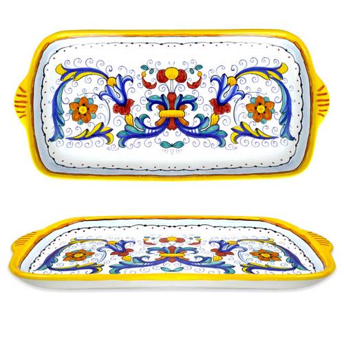 Ceramic Tray Ricco Deruta 14 In