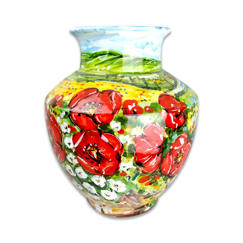Deruta Pottery Vase Umbria Decoration