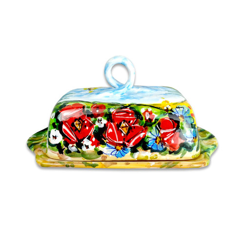 Pottery for sale Butter dish Umbria decoration