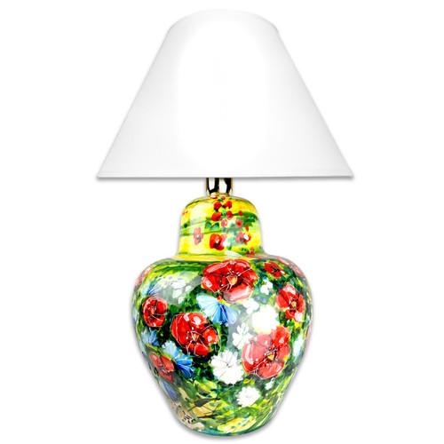 Italian Ceramic lamp hand painted Umbria Decoration