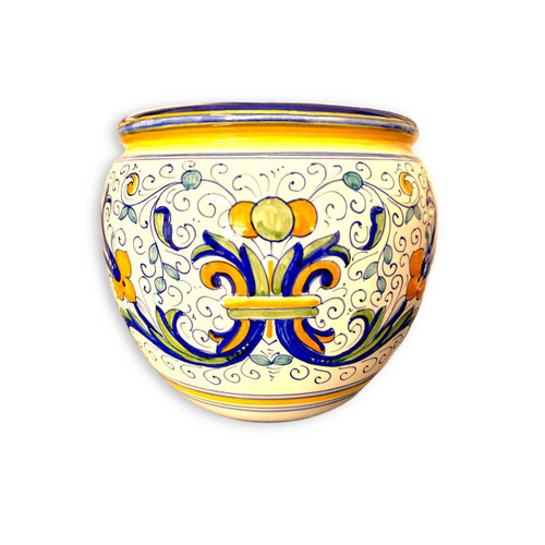 Ricco Deruta Cachepot hand made in Italy