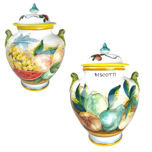 Cookie jar of ceramic deruta