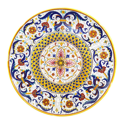 Plate Painted with Ricco Decoration - Deruta Pottery