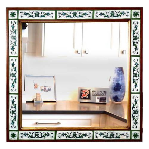 Mirror-ceramic-Italian-Deruta-pottery