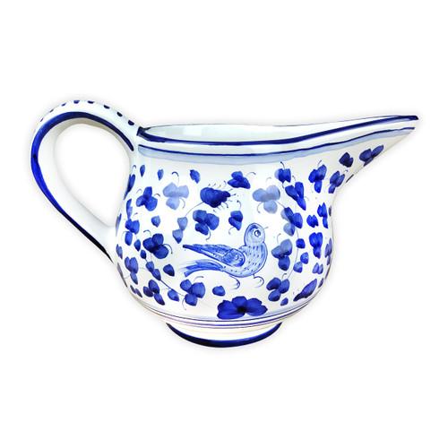 Deruta-Ceramics-Pitcher-Arabesco-Blu