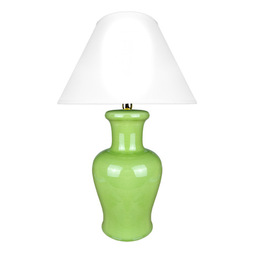 Italian pottery green Lamp with Craquelè