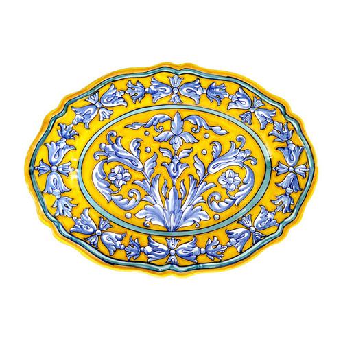 Italian Pottery Tray yellow, handmade in Italy