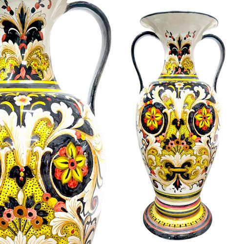 Italian Ceramic Big Pieces Of Art-Amphora