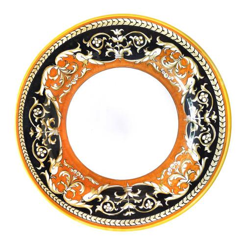 Italian pottery tableware luxury dinner plate