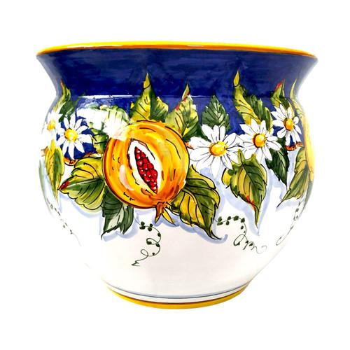 Italian Pottery Cachepot Handmade