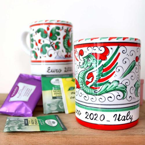 Italian Pottery Mug Euro 2020-Maioliche Originali Deruta