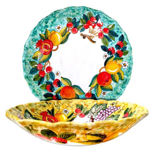Italian Pottery Fruits Bowl-Mod ceramics