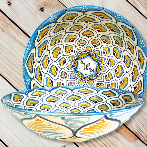 Deruta Pottery Bowl Peacock Decoration