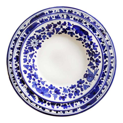 Italian Pottery table set Arabesco  blu, DERUTA
